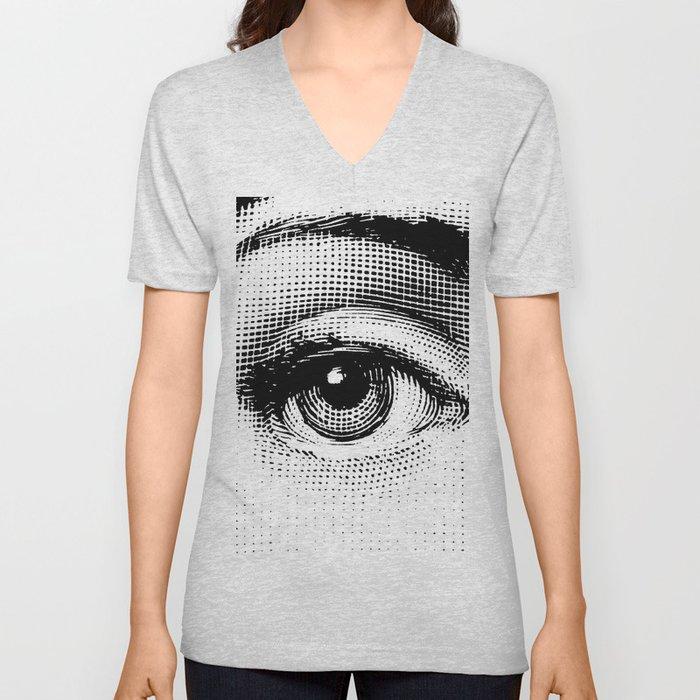 Lina Cavalieri - right eye Unisex V-Ausschnitt