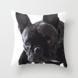 The guilty French Bulldog Throw Pillow