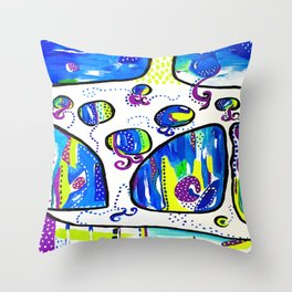The Wandering Jellies Throw Pillow
