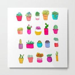 Mini Cactuses Metal Print