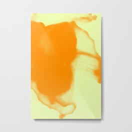 Happy Ocean Ink Fluid Soft Pastel Yellow Orange Metal Print