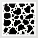 black and white animal print cow spots by amygale