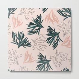 Coral Seaweed Metal Print