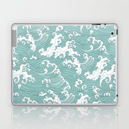 Traditional Hand Drawn Japanese Wave Ink Laptop & iPad Skin