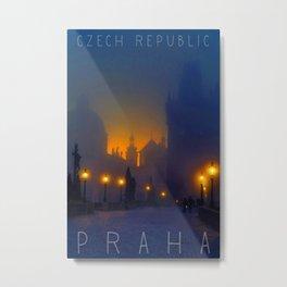 Prague, vintage poster Metal Print