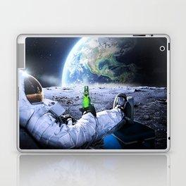 Astronaut on the Moon with beer Laptop & iPad Skin