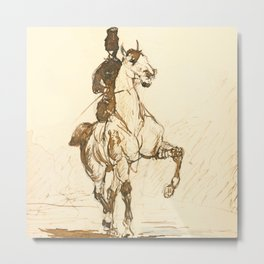"""Henri de Toulouse-Lautrec """"Amazone"""" Metal Print"""