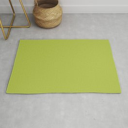 Simple Solid Color Avocado Green All Over Print Rug