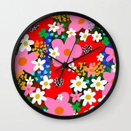 Flower Power! Wall Clock