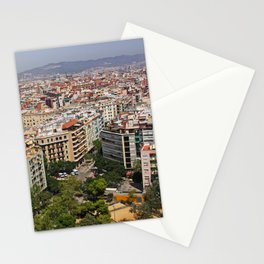 [barcelona] - ... the colours of the city Stationery Cards