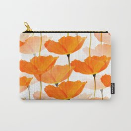 Orange Poppies On A White Background #decor #society6 #buyart Carry-All Pouch
