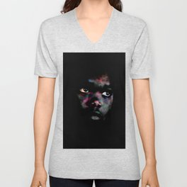 Black & colors Unisex V-Neck