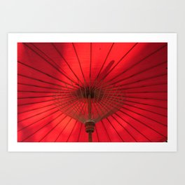 Red Parasol Art Print