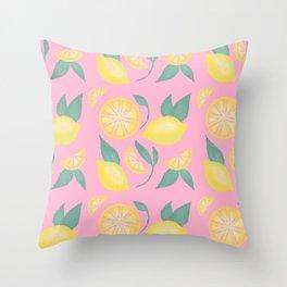 Sweet Summer Lemons Throw Pillow