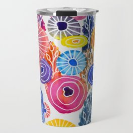 Sea Floral Abstract Travel Mug