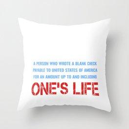 Definition of Veteran Throw Pillow