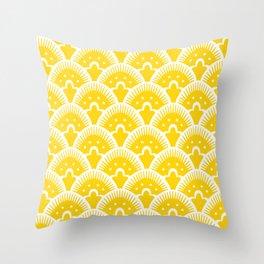 Fan Pattern Yellow 201 Throw Pillow