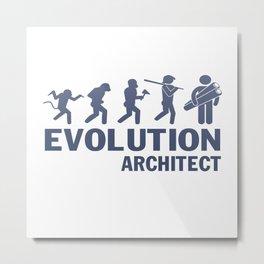 Evolution - Architect Metal Print