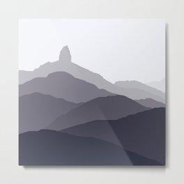 Black Tusk Mountain, Whistler Canada in grey Metal Print