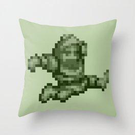Ghosts n Goblins Sir Arthur monochrome Throw Pillow