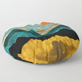 Turquoise Vista Floor Pillow
