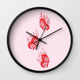 Give Me Butterflies Wall Clock