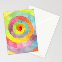 Rainbow spiral Stationery Cards