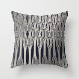 Silver pattern 3 Throw Pillow