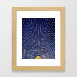 Twilight / Blue and Metallic Gold Palette Gerahmter Kunstdruck