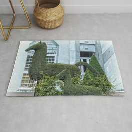 Horse and Foal Topiary Rug