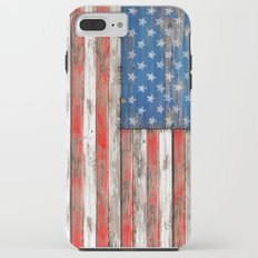 USA Vintage Wood iPhone 8 Plus Tough Case