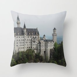 Neuschwanstein Castle (Schwangau, Germany) Throw Pillow