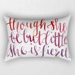 Shakespeare Quote - Handletter Watercolor Typography  Rectangular Pillow