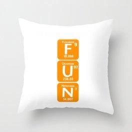 Neuroscience Neurobiology Neurophysiology Flourine Uranium Nitrogen Brain Science Axonal Gift Throw Pillow