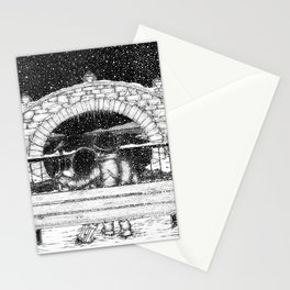 Snowfall in the Park Stationery Cards