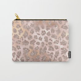 Rosegold Blush Leopard Glitter   Carry-All Pouch