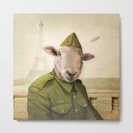 Private Leonard Lamb visits Paris Metal Print