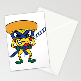 """Luscious and fierce """"Ninja Pizza"""" tee design. Perfect gift for pizza lovers like you!  Stationery Cards"""