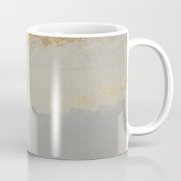 Geometrical ombre glacier gray gold watercolor Coffee Mug