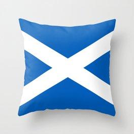 Flag of Scotland - Scottish Flag Throw Pillow