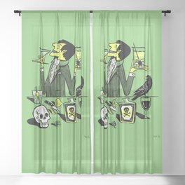 Drinks With The Mad Scientist Next Door Sheer Curtain