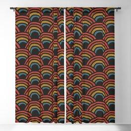 Bold Rainbow Pattern Blackout Curtain