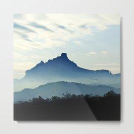 Blue Mountain Mist Metal Print