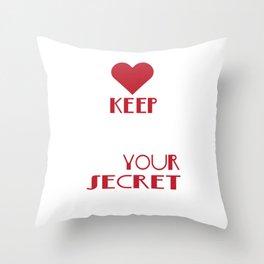 Cute & lovely Admirer Tee Design I m your secret admirer Throw Pillow