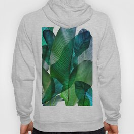 Palm leaf jungle Bali banana palm frond greens Hoody
