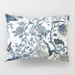 Blue vintage chinoiserie flora Kissenbezug
