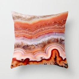 ORANGE AGATE Throw Pillow