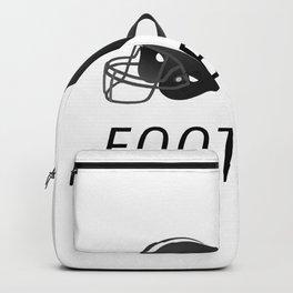 Two Helmets American Football Design Backpack