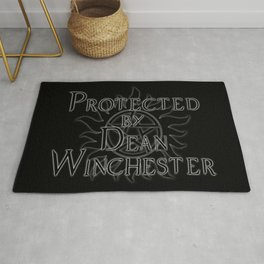 Protected by Dean Winchester Rug
