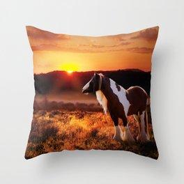Gypsy Sunset Throw Pillow